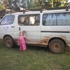 "The van (aka ""Jungle Buggy"") is a little dirtier, and the girls wanted to remind us of the fact that it has 4-wheel drive..."