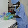 Our midwife stabilizing a baby