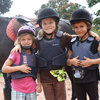 An English riding lesson... in Uganda! Important times of fun for the kids (and learning horsemanship).