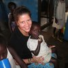 Christmas at the orphanage-- Elizabeth and Elizabeth-- one year later, a bigger, stronger child!  (see next photo from last year!)