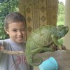 Logan and one of his exotic finds in the jungle!