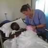 Elizabeth, the lactation consultant, with our first C-section patient (baby was later named after her!)